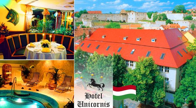 Relaxačné 3 dni pre dvoch v maďarskom kúpeľnom meste Eger v Hoteli Unicornis*** s polpenziou a wellness