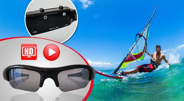 DVR slnečné okuliare s mikro kamerou pre zachytenie vašich adrenalínových zážitkov