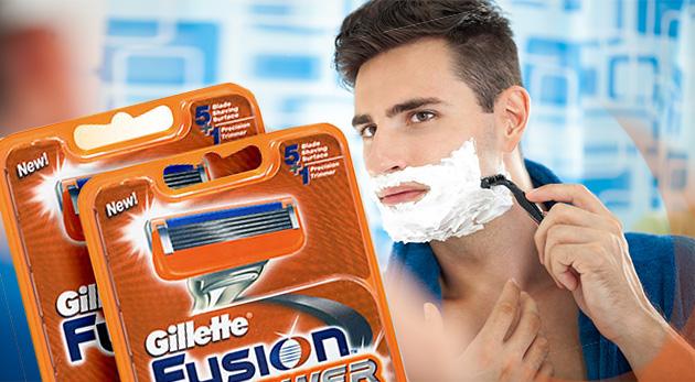 Kvalitné holenie s Gillette MACH 3 alebo Gillette Fusion Power náhradnými hlavicami - 4 alebo 8 kusov