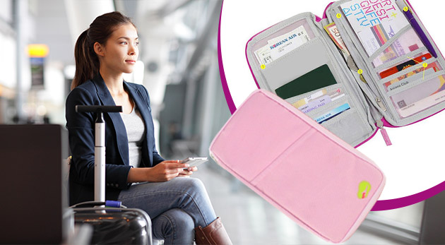 Multifunkčný cestovný organizér na doklady - na výber v 4 farbách