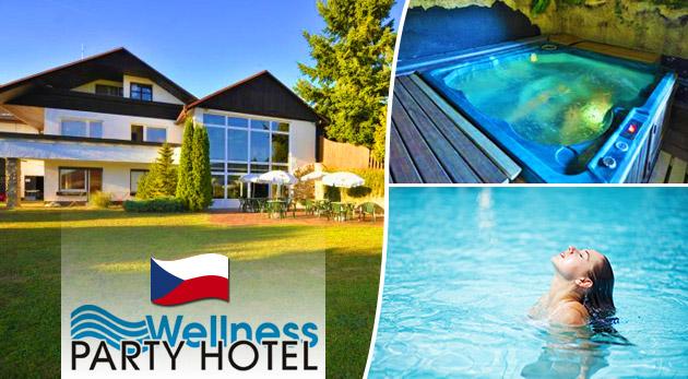 Zábavné a relaxačné 3 alebo 4 dni vo Wellness Party Hoteli**** pri Zlíne s voľným vstupom do wellness