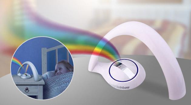 Úžasný dúhový projektor s dvomi režimami vyžarovania