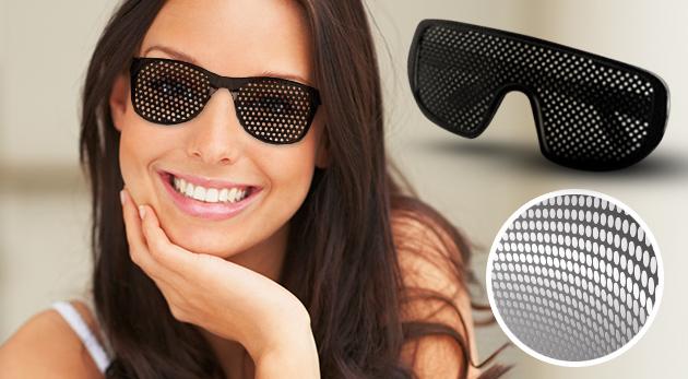 Štýlové dierkované okuliare pre zlepšenie zraku - na výber 4 modely