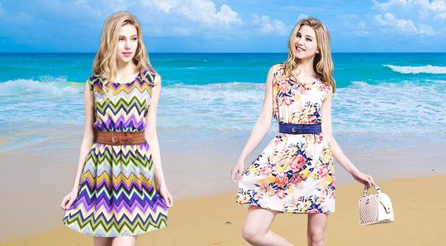 Ležérne dámske šaty Ria na leto