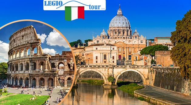 5-dňový poznávací zájazd do Ríma a Vatikánu s CK Legiotour