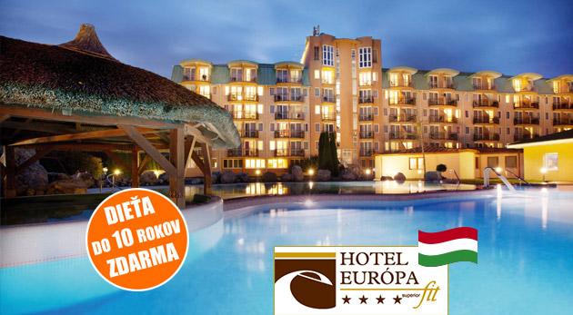 Dokonalý wellness relax v Hoteli Európa Fit**** v maďarskom kúpeľnom meste Hévíz