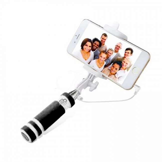 Teleskopický selfie držiak MINI - čierny