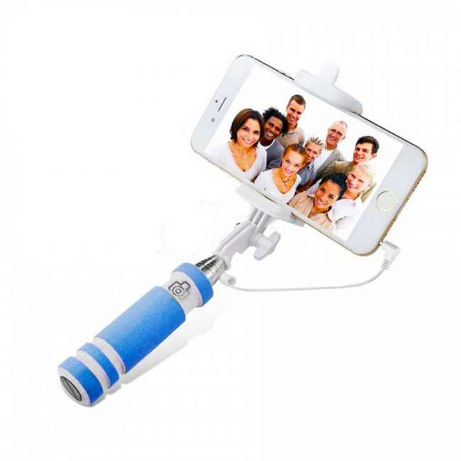 Teleskopický selfie držiak MINI - modrý
