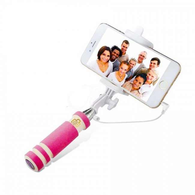 Teleskopický selfie držiak MINI - ružový