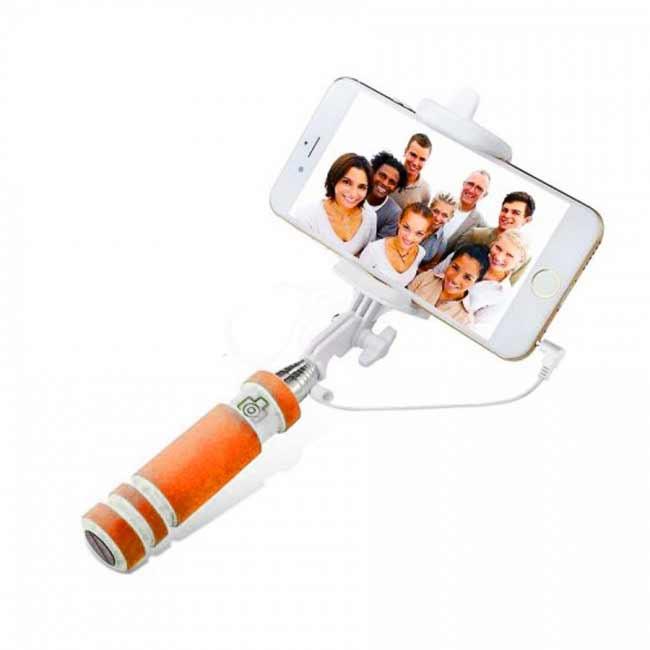 Teleskopický selfie držiak MINI - oranžový
