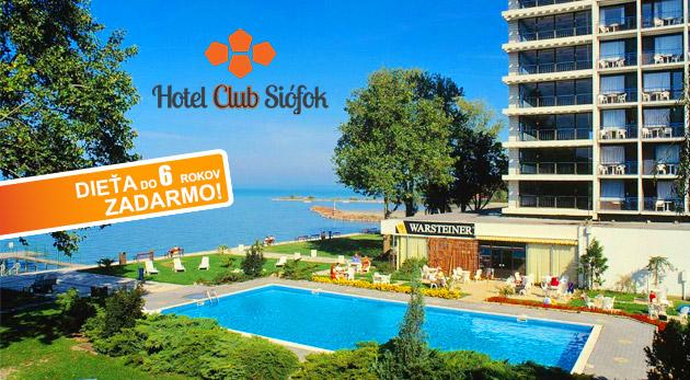 Relax pri Balatone v Hoteli Európa a Hungária*** v obľúbenom letovisku Siófok pre 2 osoby