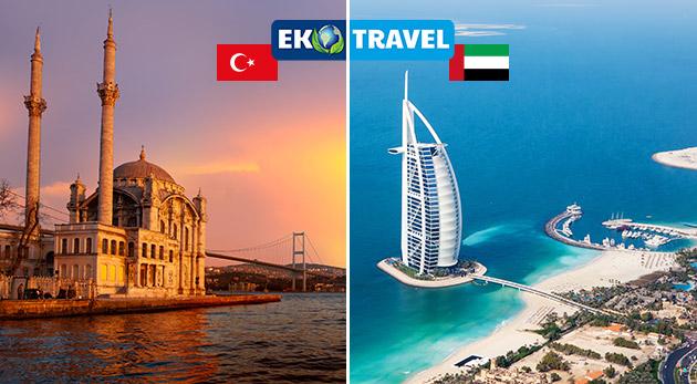 Fascinujúci 8-dňový letecký zájazd plný exotiky do magického Istanbulu a Dubaja