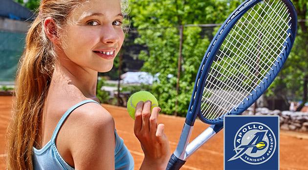 Letný denný tenisový tábor pre deti od 4 do 12 rokov na 5 dní v Bratislave