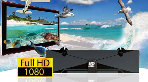HD digitálna anténa pre sledovanie programov v najvyššej kvalite