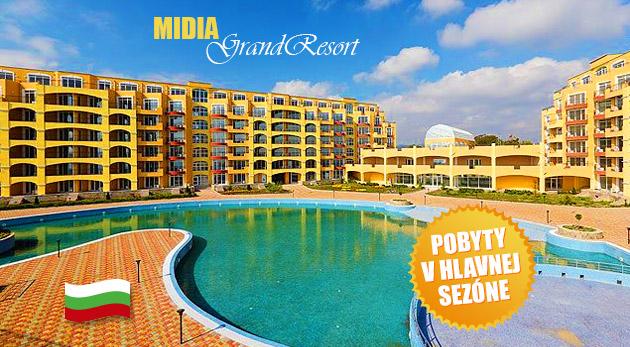 Super leto v apartmánoch Midia Grand Resort v Bulharsku (cena za 2 osoby, 3. osoba grátis)