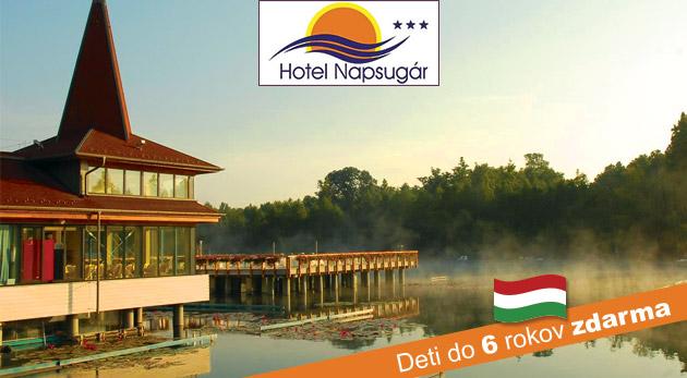 Wellness relax pre dvoch v Hoteli Napsugár Hévíz*** blízko termálneho jazera