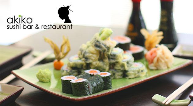 Sushi Maki set v Akiko -  Sushi bar & restaurant - tradičná japonská delikatesa