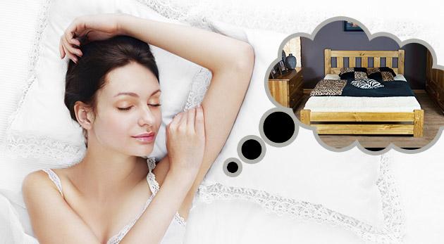 Kvalitné postele z masívneho borovicového dreva vrátane roštu a možnosťou dokúpenia zdravotného matracu