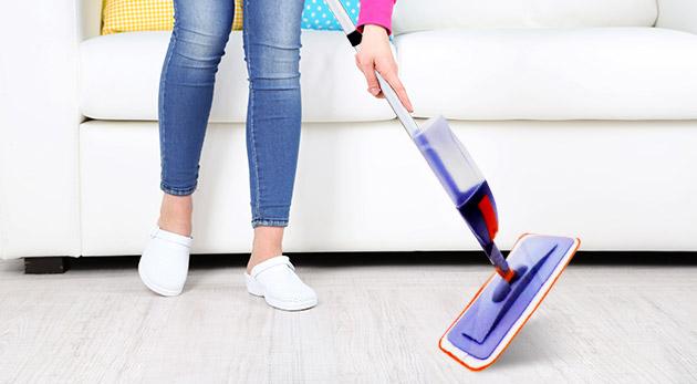 Mop so sprejom pre vinylové, drevené, laminátové a korkové podlahy