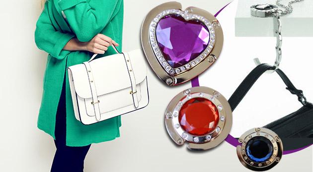 Praktický a elegantný držiak na kabelku - na výber z 10 druhov