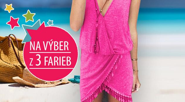 Príjemné letné šaty so strapcami - na výber v 3 farbách