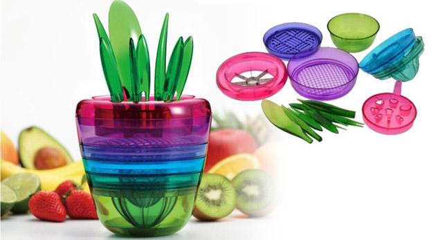 Praktický odšťavovač a krájač ovocia - skladný a štýlový dizajn