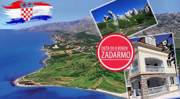 Skvelá letná dovolenka v slnečnom Chorvátsku na 7 alebo 10 dní s polpenziou
