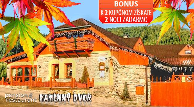 Jesenný relax v Penzióne Kamenný dvor vo Vyšných Ružbachoch