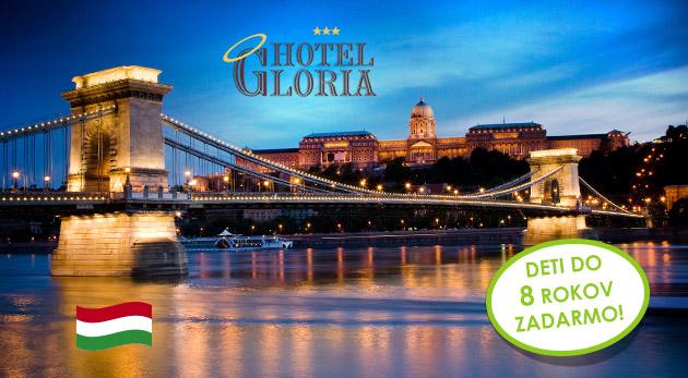 Budapešť pre dvoch na 3 dni v Hoteli Gloria*** blízko centra