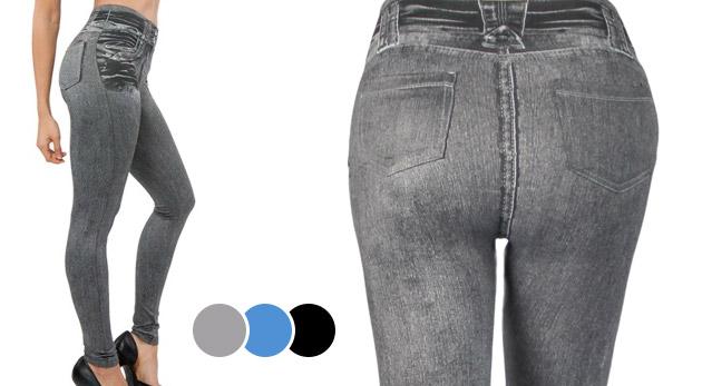 Pohodlné džínsové legíny - 3 kusy v balení