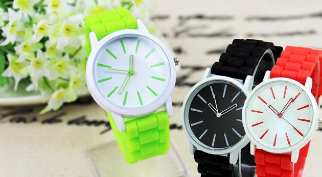 Farebné silikónové hodinky pe dámy aj pánov