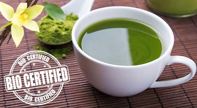 BIO certikovaný čaj matcha v čistej podobe alebo s príchuťou vanilky v 100 g balení