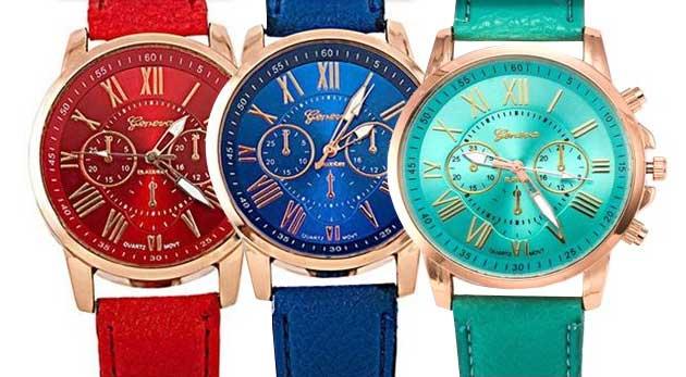 Dámske náramkové hodinky s koženým ramienkom 9e43c614879