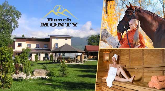 Relax v Penzióne Monty Ranch vo Vysokých Tatrách na 3 alebo 4 dni