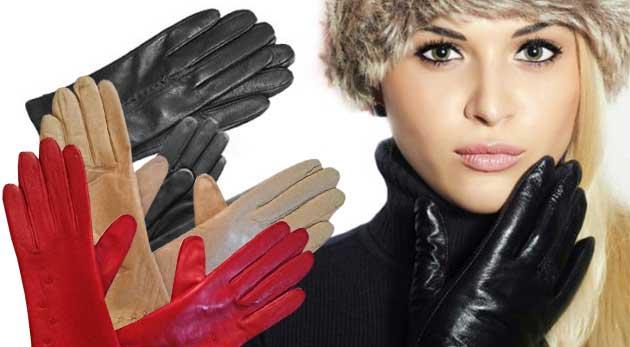 Elegantné pánske alebo dámske kožené rukavice