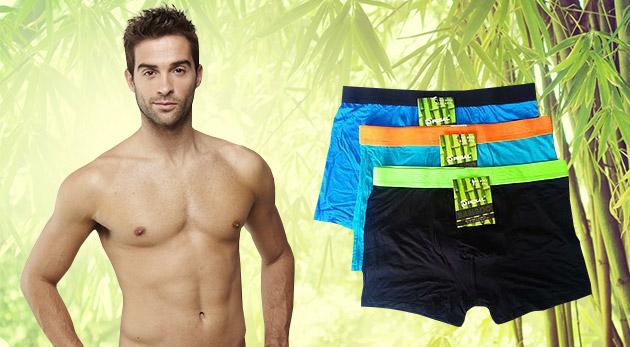 Pánske bambusové boxerky v štýlových neónových farbách - 2 kusy v balení