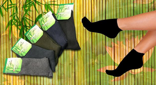 Dámske alebo pánske bambusové ponožky - v balení 5 ks