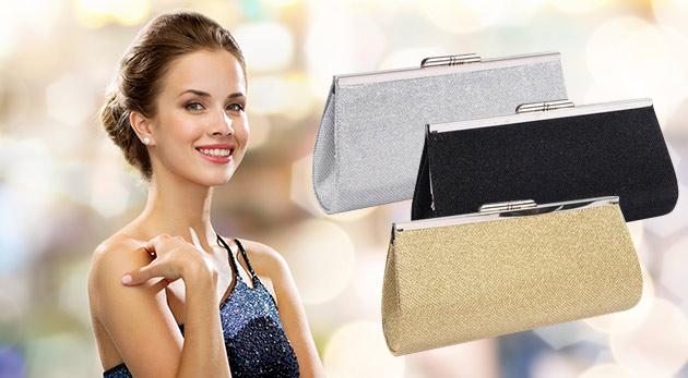 Trblietavá listová kabelka - na výber z troch farieb