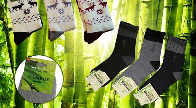 Pánske alebo dámske bambusové ponožky