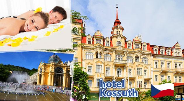 Dni plné wellness v Mariánskych Lázňach v Hoteli Kossuth*** s polpenziou a procedúrami