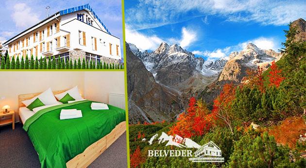 Čarovná a farebná jeseň v Tatranskej Lomnici v luxusných Apartmánoch Belveder