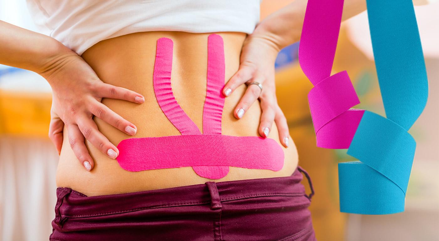 Fotka zľavy: Vyskúšajte i vy čoraz obľúbenejšie tejpovacie pásky zo 100 % bavlny, ktoré pôsobia proti bolestiam kĺbov, svalov či chrbta a stimulujú krvný a lymfatický obeh! Na výber v 4 farbách.