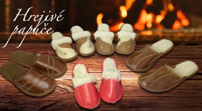 Hrejivé a pohodlné papuče z pravej ovčej vlny