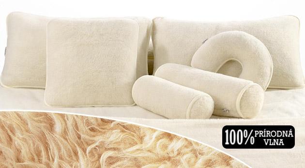Sada deky a vankúšov zo 100 % ovčej vlny