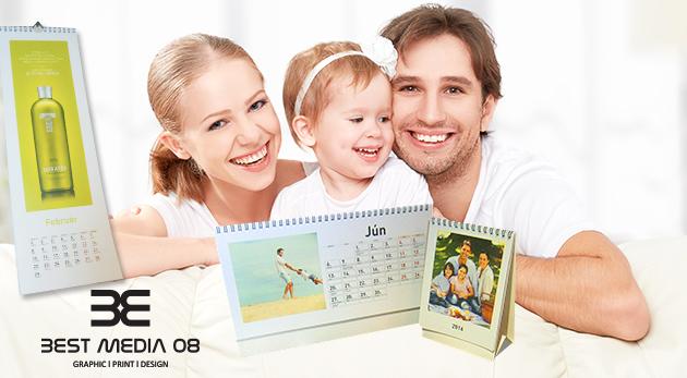 Stolový alebo nástenný kalendár z vašich vlastných fotografií