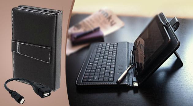 Praktické a elegantné puzdro na tablet s klávesnicou