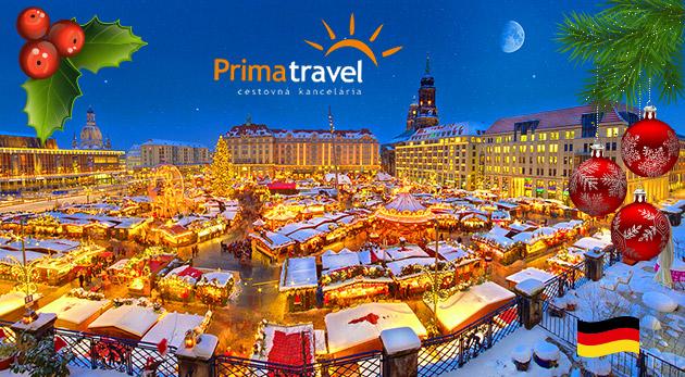 """Najstarší vianočný trh v Drážďanoch a slávny """"Popoluškin"""" zámok Moritzburg - 2-dňový autobusový zájazd"""