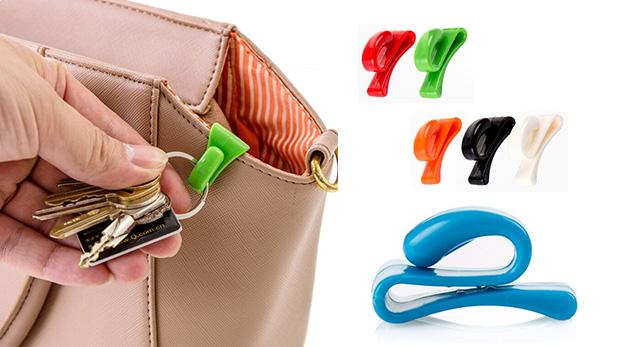 Držiak na kľúče do kabelky - v balení 4 ks
