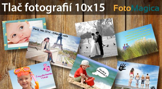 Tlač fotografií o rozmere 10 x 15 cm na vysoko kvalitný fotopapier