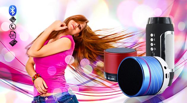 Bluetooth reproduktory s MP3 prehrávačom a AUX vstupom pre pripojenie i rádiom